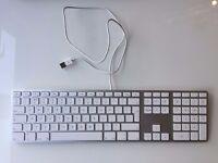 Apple 'Aluminium' USB Keyboard with NumPad - GOOD CONDITION - FULLY WORKING - Bargain at £20 !!