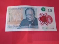 New £5 note AK46 mint condition