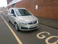 2007 VAUXHALL ZAFIRA (7 SEATER) 1.8 PETROL MANUAL, HALF LEATHER, FULL YEARS M.O.T,