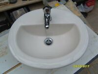 China inset vanity bowl with monobloc sink mixer