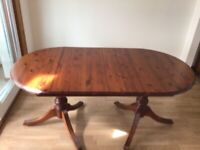 Dining table, extending, 6 chairs