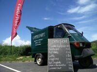 Mobile Coffee Business - Tuk Tuk converted with coffee machine - Piaggio Ape 50