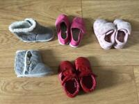 4 x Baby girl shoes (size 3 & 4)