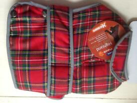 Ancol Highland Red Tartan Dog Coat BNIB - small