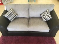 BLACK/GREY 2-3 SEATER SOFA - NEW OTHER
