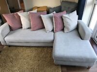 DFS chaise sofa with chair