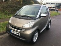 SMART AUTOMATIC 2010 59 REG FORTWO 1.0MHD PASSION 2DR COUPE PANORAMIC VERY LOW MILEAGE