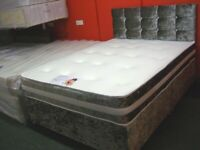 Crushed Velvet King Divan Bed Set. Brand New in Factory Wrapping