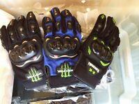 Motocross Gloves Kawasaki Gloves and Monster Energy Gloves JOB LOT ALL SIZES