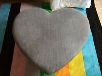 Heart foot stool or coffee table