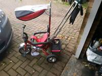 4-in-1 children's tricycle