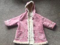 Girls NEXT winter coat 12 to 18 months