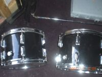 PEARL RACK TOMS 12 AND 13 GOOD HEADS