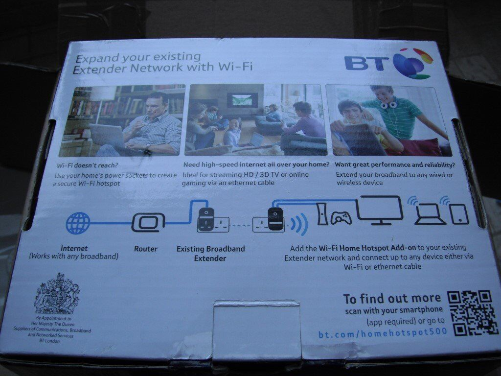 BT Wi-Fi Hotspot 500 Add-on, Wi-Fi extender, Brand New, unused | in ...