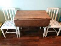 REDUCED FOR A QUICK SALE SHABBY CHIC KITCHEN TABLE AND 2 CHAIRS
