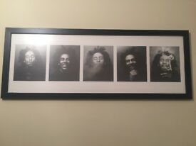Black frame and Bob Marley print