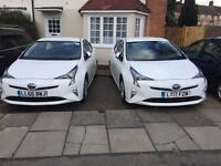 UBER PCO CAR HIRE 65 PLATE AND 66 ,17 PLATE TOYOTA PRIUS T3 HYBRID