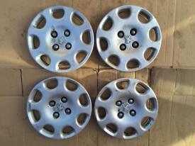 "X4 Peugeot CUBA 14"" wheel trims SET 206 207 PARTNER 9648316280"