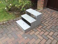 Handmade aluminium caravan steps