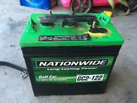 Six volt deep cycle golf cart battery