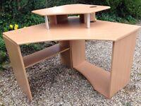 Beech corner desk for sale