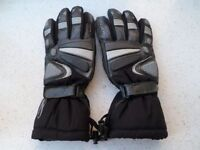 *RICHA BLACK/SILVER ~ LEATHER/TEXTILE MOTORCYCLE GLOVES* Size Small
