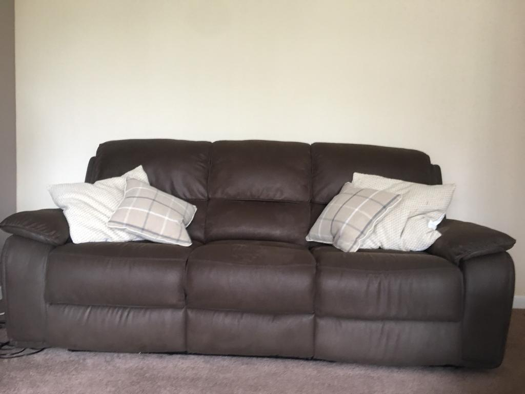 3 Seater Recliner Sofa And Two Arm Chairs
