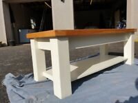 Solid Wood Ivory Coffee Table