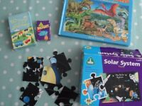 Puzzles and cards for children