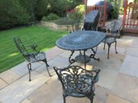 Garden table & 4 chairs aluminium cast made by Ashworth Leisure