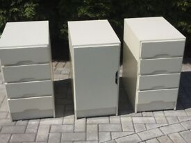 3 matching draws/cupboard