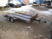 8 X 4 APPROX GALVANISED STEEL TWIN AXLE TRAILER.......750KG UNBRAKED....