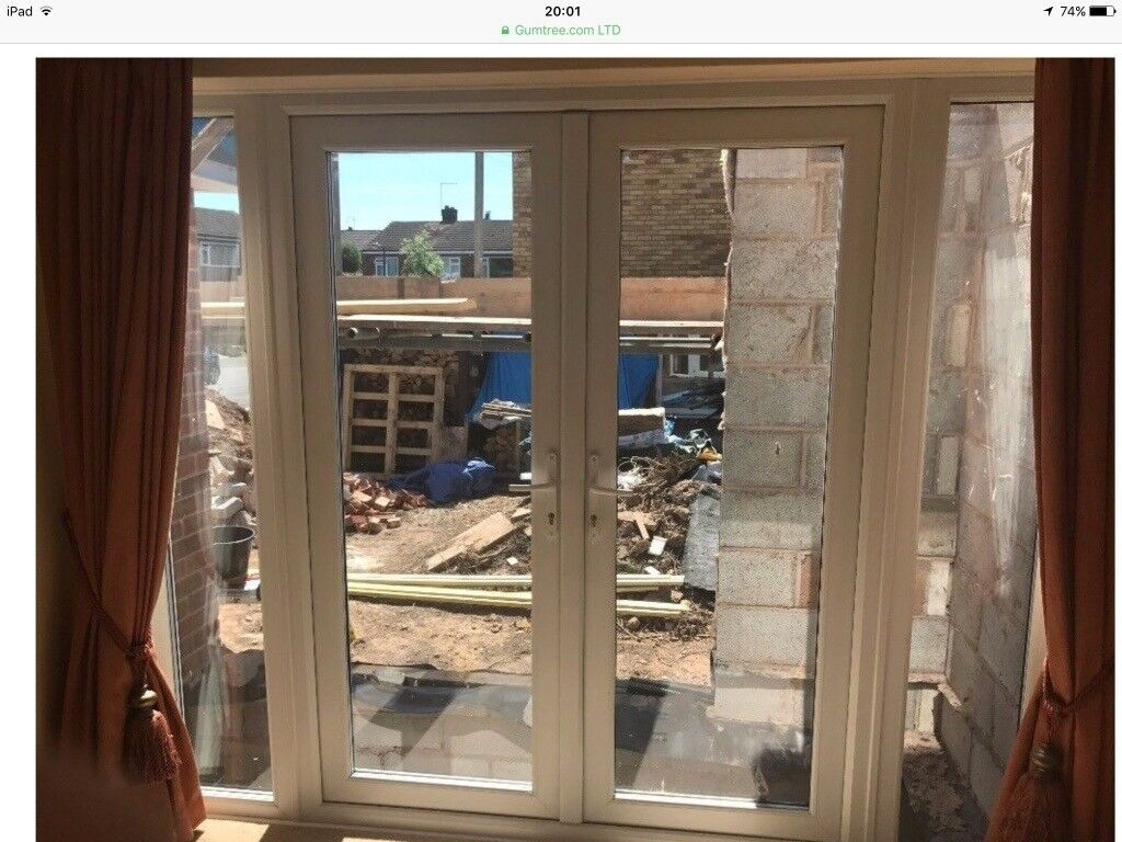 Wanted White Upvc French Patio Doors With Side Panels