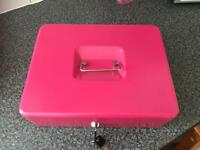 Product nation 12 inch pink cash tin