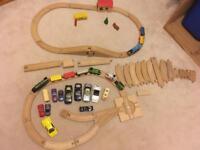Wooden train set & cars: Brio & Brio like