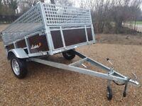 CAR TRAILER CAMPING FARM TRACTOR BOX MOWER PLANT VAN QUAD MESH SIDES TILT BED