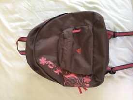 Adidas brown and pink rucksack