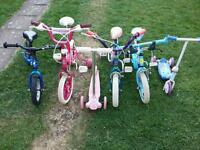 Cheap kids bikes and scooters all in good working order