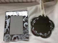 Laura Ashley, Photo Frame & Mirror. £12 for Both