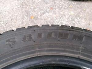 P225/55R17X4 SAILUN ICE BLAZZER WST1 WINTER TIRES USED FOR SALE