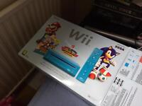 Nintendo Wii Mario and Sonic at London Olympics Limited edition with games.