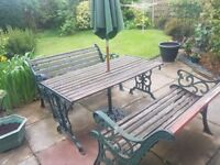 Good Quality Heavy Cast Iron Garden Furniture Patio Set