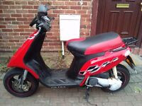 2007 Gilera Storm 50 scooter, 2 stroke, new 1 year MOT, does 50mph, same as Piaggio Typhoon, non zip