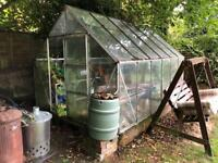 Greenhouse 10 x 8 with shelving just needs clean! - I'll pay you £25 to take it this weekend!!!