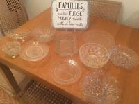 Wedding sweet table glasswear