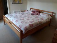 Super king bed - solid wood! (Perfect condition)