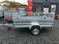 BRAND NEW 7.7x4.2 SINGLE AXLE TRAILER- CAMPING TRAILER WITH MESH (40cm) MANUAL TIPPING