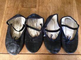 X2 black ballet shoes size 13