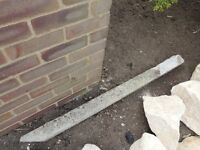 Concrete reinforced 2 x 3ft reclaimed fence posts