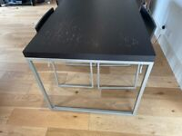 Dark Brown Wood Dining Table and 4 Chairs - FREE